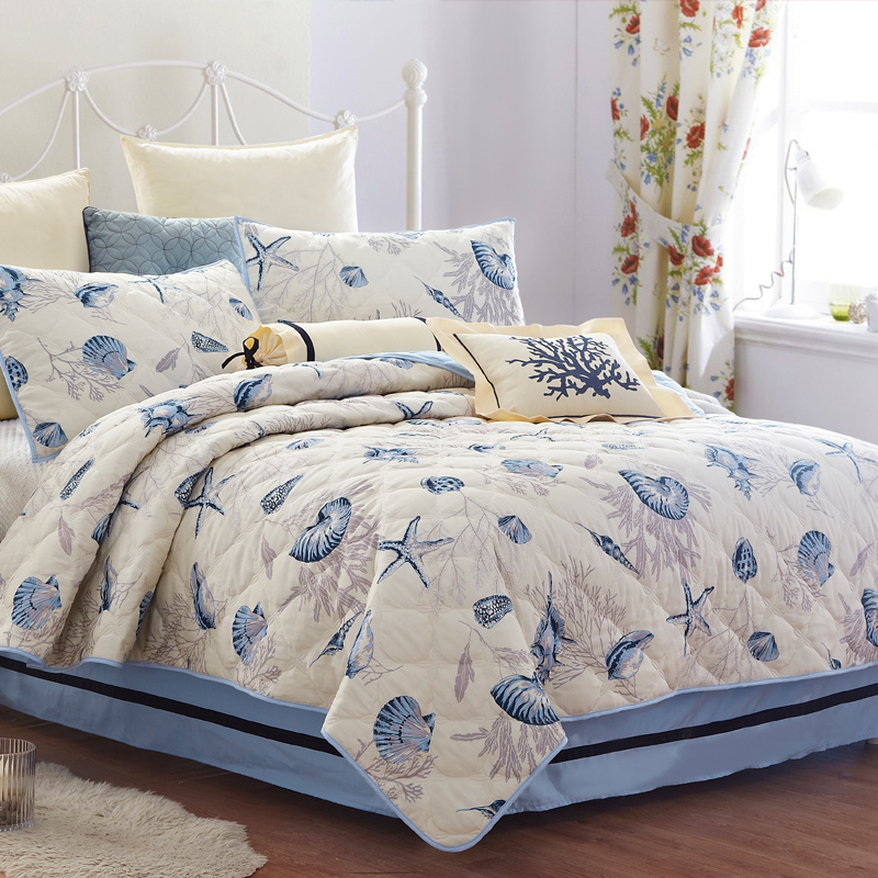 KOSMOS Brand American style thin summer quilt quilted bedspread ... : thin quilts for summer - Adamdwight.com