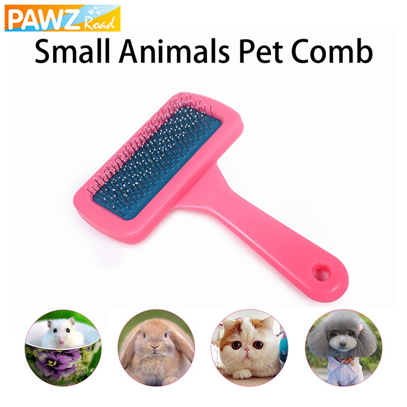 PAWZRoad font b Pet b font Cat Combs For Small Animals Puppy Rabbit Fur Hair Grooming