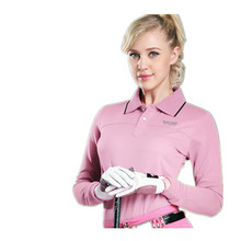 2016 Direct Selling Rushed Mulheres Roupas De Golfe Camisetas Mujer Polo Golf Clothing Ms. Long-sleeved T-shirt Bottoming Shirt