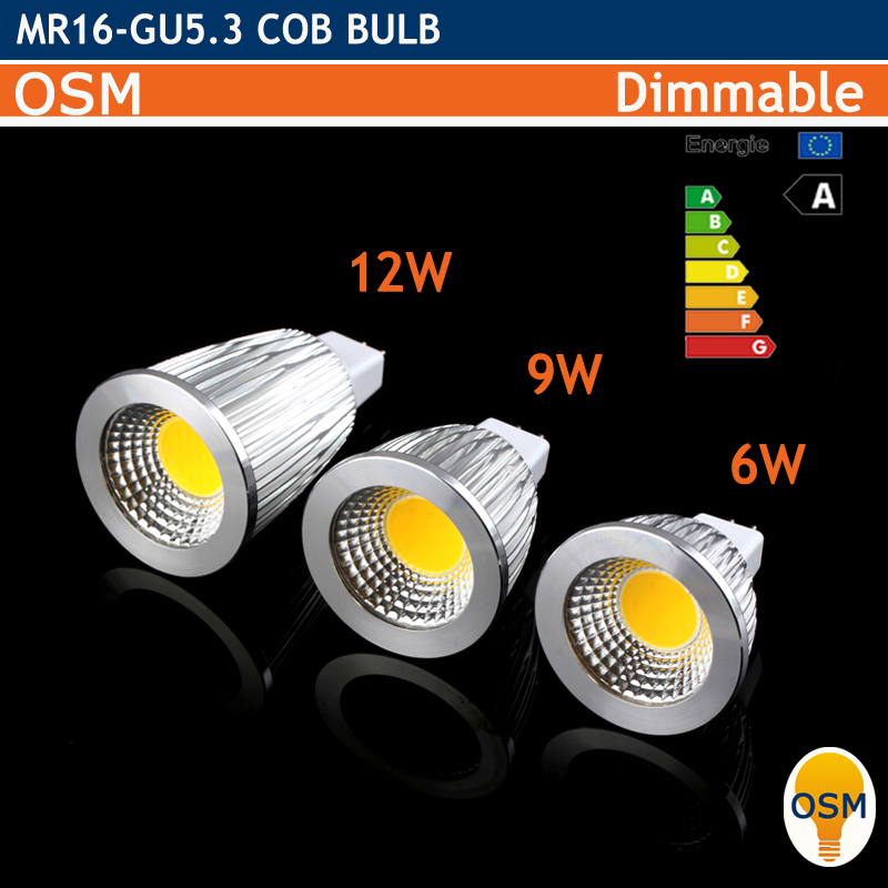 led mr16 gu5 3 220v 12v 3w 6w 9w 12w dimmable led cob. Black Bedroom Furniture Sets. Home Design Ideas