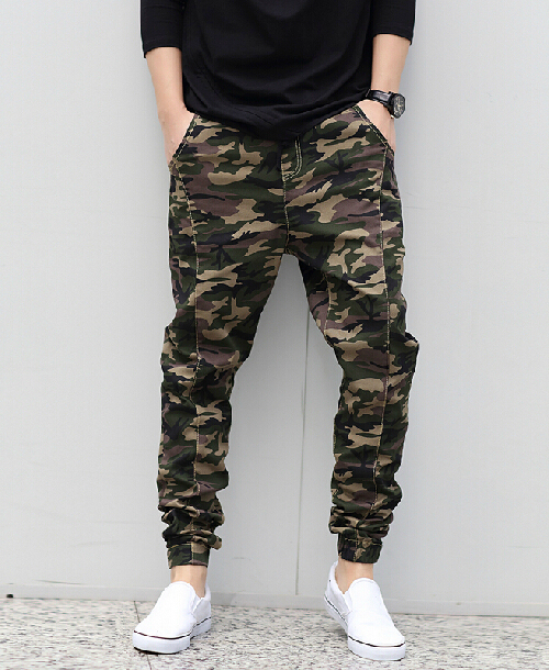 Mens hip hop harem pants Camo joggers pattern cotton material Joggers sweatpants Men harem pants