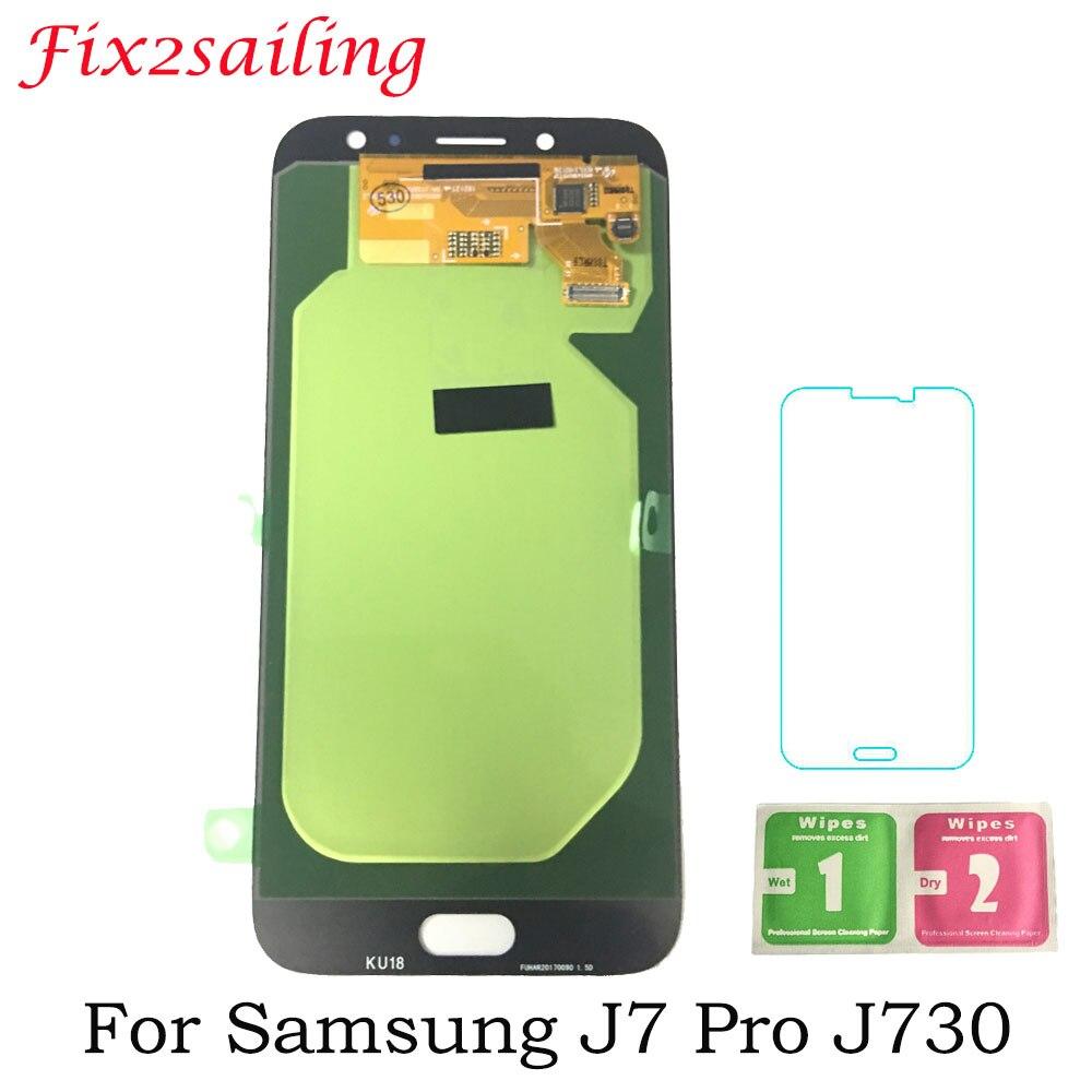 Affichage Pour SAMSUNG Galaxy J7 Pro J730 2017 SM-J730F LCD Affichage Tactile Assemblée D'écran de Remplacement Pour Samsung J730 LCD