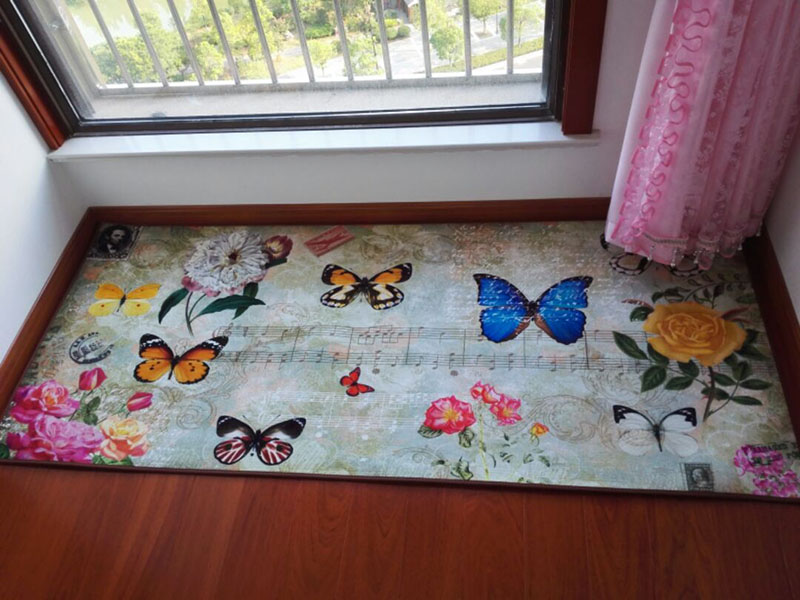Hot Retro Beautiful Butterfly Rectangle Mat Living Room Tea Table Study Bedroom Bed Blanket Big Carpet