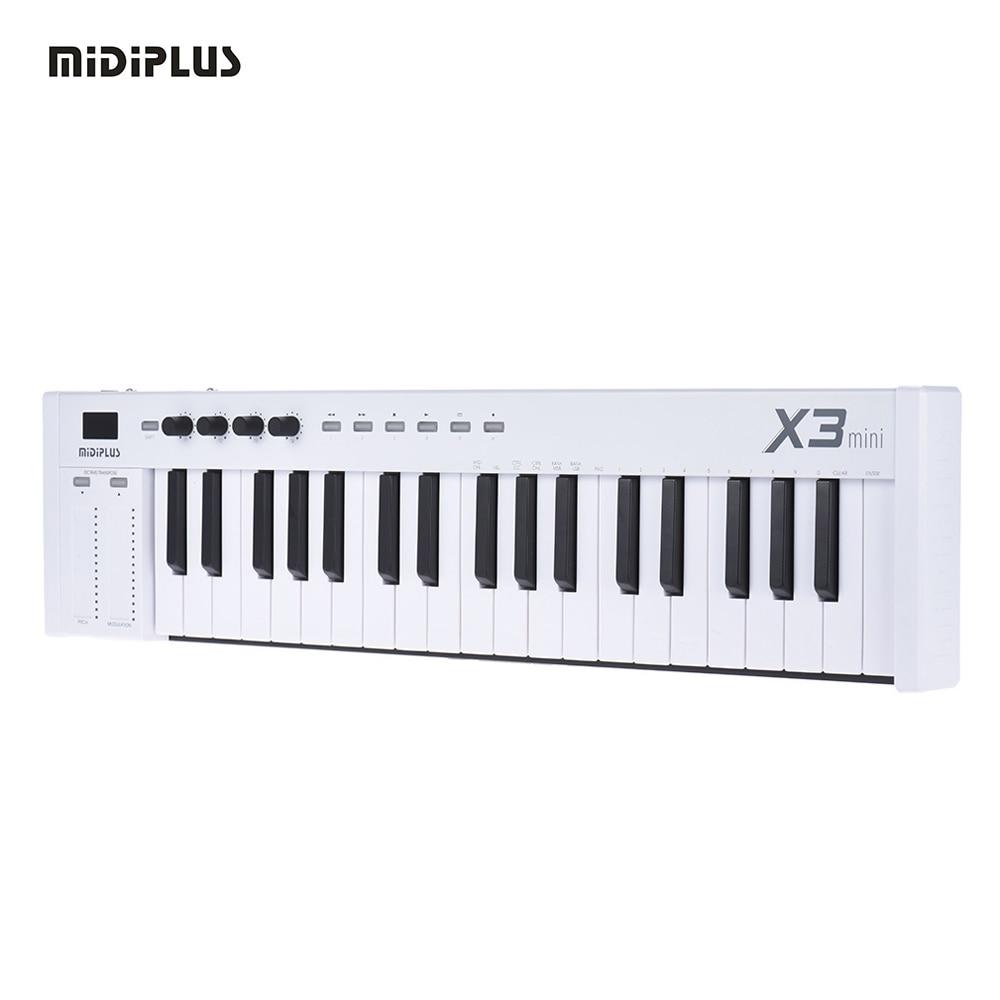 buy free shipping midiplus x3 mini 37 key usb midi keyboard controller led. Black Bedroom Furniture Sets. Home Design Ideas
