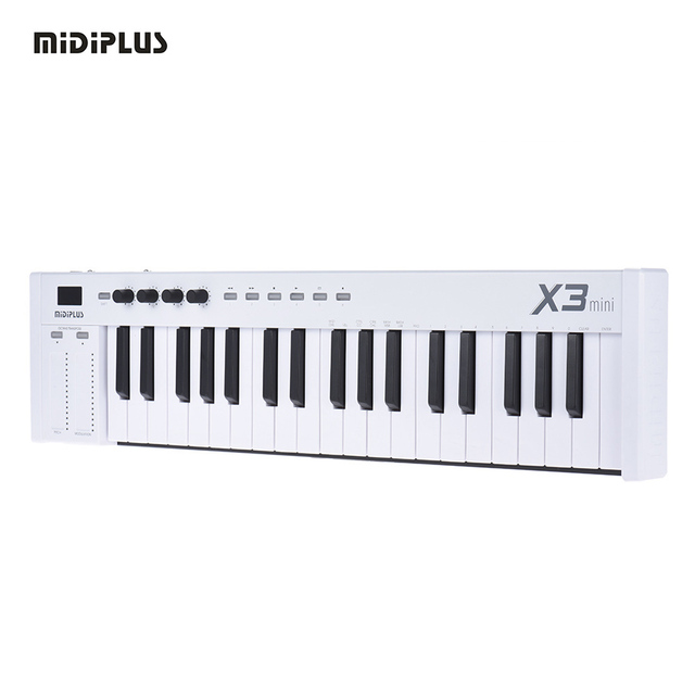 US $137 83 45% OFF|Free shipping MIDIPLUS X3 mini 37 key USB MIDI Keyboard  Controller LED Display with USB Cable-in Electronic Organ from Sports &
