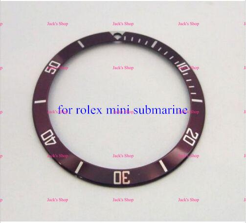 Envío Gratis 1 unids Mina Bisel Reloj Automático Fecha Rojo Inserto 73190 73090 para la Reparación Del Reloj