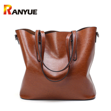 Luxury Handbags Women Bags Designer Brand Famous PU Oil Wax Leather Women Bag Large Capacity Tote