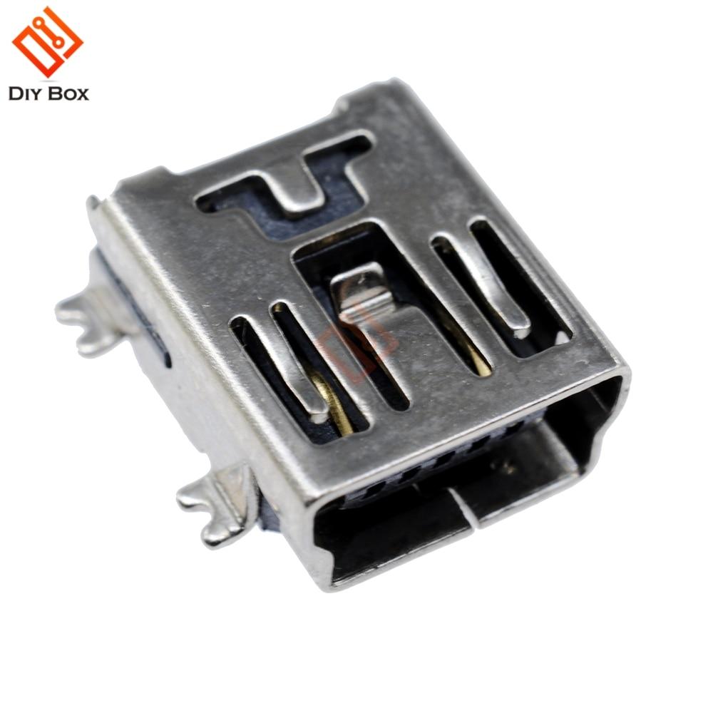 500PCS Mini USB SMD 5 Pin Female Mini B Socket Connector Plug