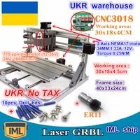UKR CNC 3018 GRBL control DIY mini CNC machine working area 300x180x45mm 3 Axis Pcb Milling machine,Wood Router,cnc router v2.4