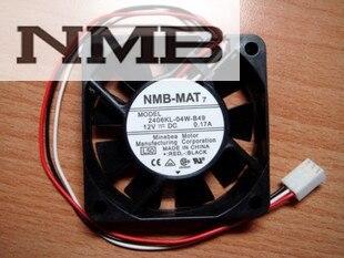 Original For NMB 2406KL-04W-B29 6CM 12V 0.10A quiet Dual ball Bearing sever inverter cooling fan