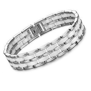 Trendy Top White Ceramic Bracelet, Elegant Star Health Care Titanium Bracelets & Bangles, Mens Bracelets for Women Men Jewelry buy mens string bracelets