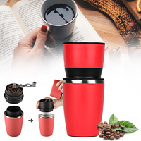Portable Manual Coffee Maker Hand Pressure Portable Espresso Machine Coffee Pressing Bottle Pot Coffee Tool for Outdoor office