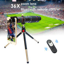 36x 4K HD phone lens Telephoto dual zoom Bluetooth remote control Mobile Phone Telescope Lens External Smartphone Camera Lenses