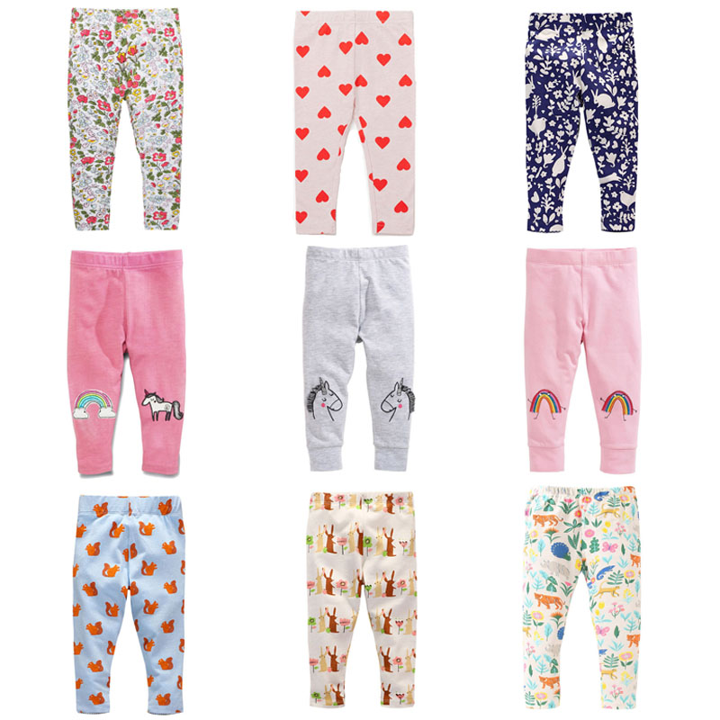 New 2018 Brand Quality 100% Cotton Baby Girls Leggings Baby Girl Clothes Kids Legging Long Slim Pant Baby Girls Pencil Pant Girl new kids baby girls clothes set heart shaped dress pant