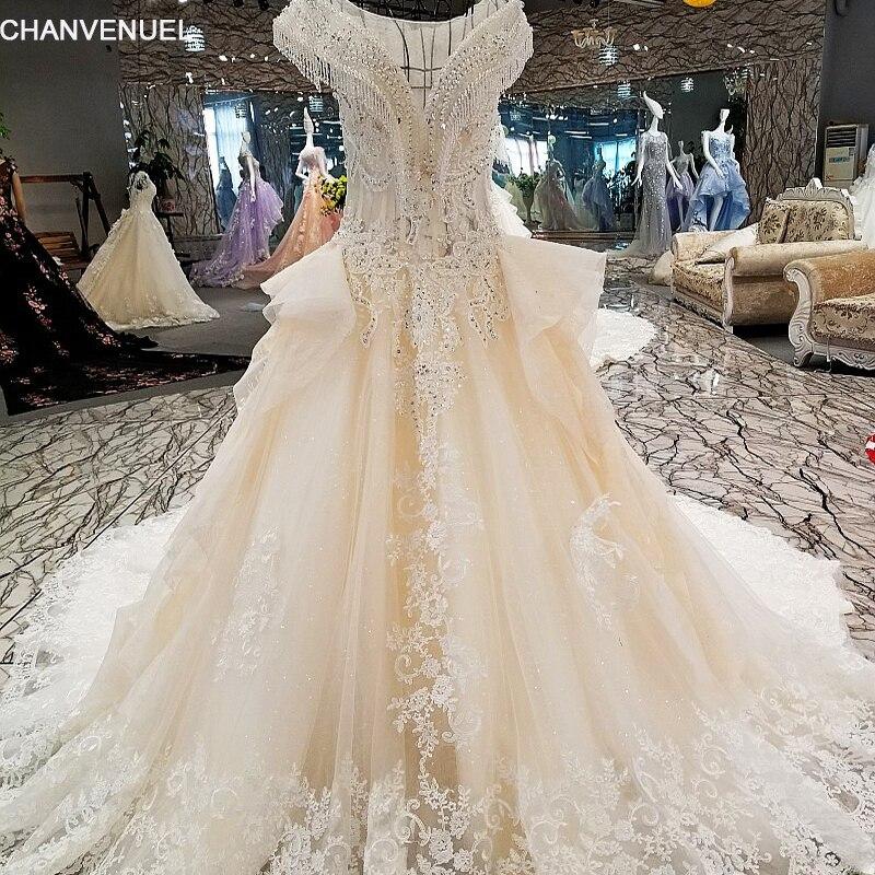 Real Maine Weddings 2017: LS00280 Vestido De Noiva Lace Up Floral Print Light