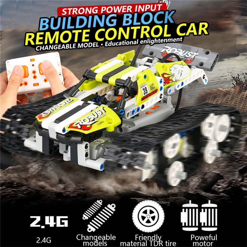 Global Drone DIY Maynkraft Remote Control Tank Playmobil 2.4G RC Tank Constructor Science Educational Toys For Children