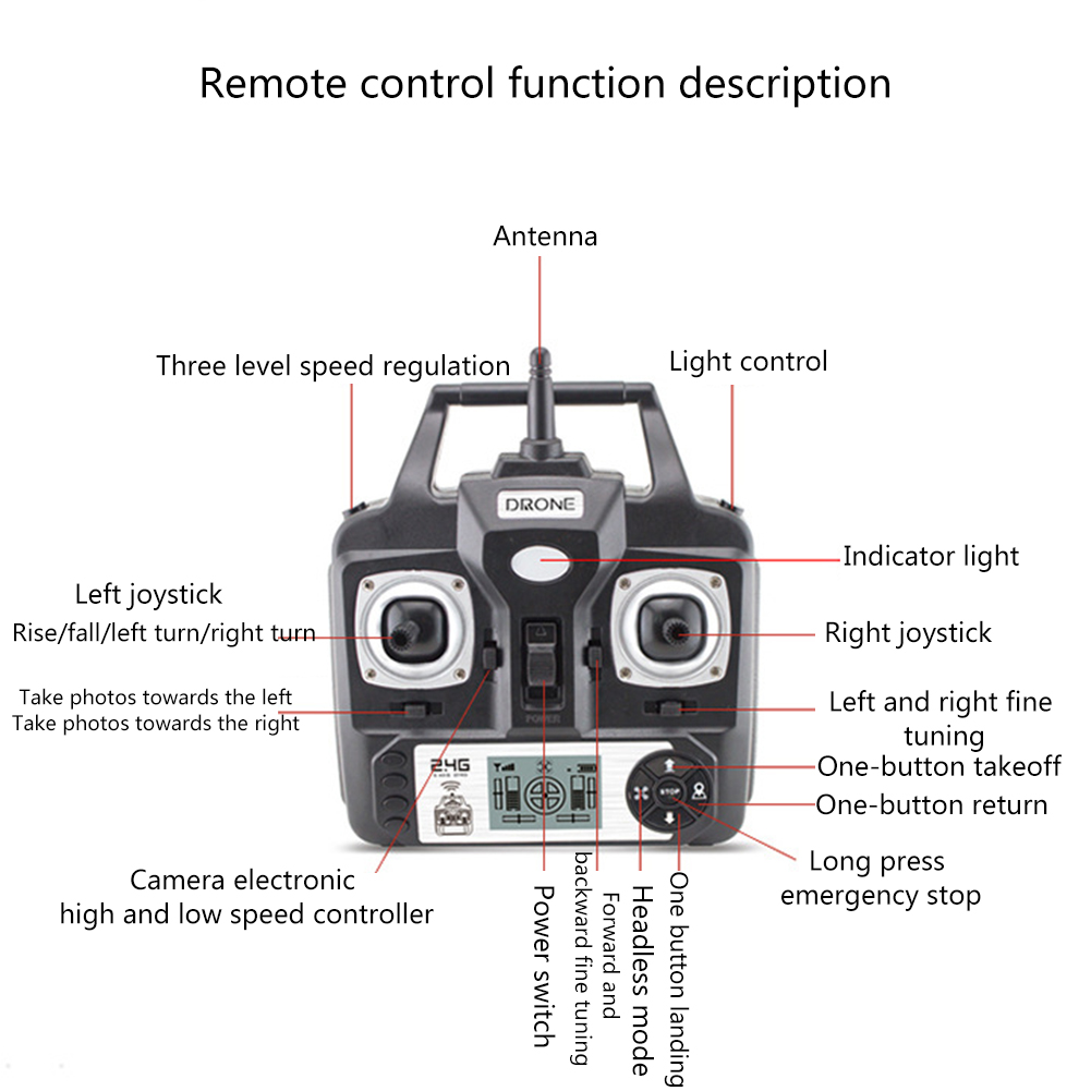 Best New Drone With Camera 1080P HD 5MP Hover Helicopter X52 Dron RC Drone Full hd Camera Drone Professional long flight time 11
