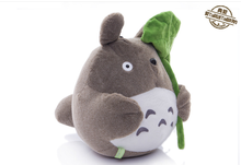 small cute plush Totoro toy stuffed totoro doll with Lotus leaf doll gift about 30m