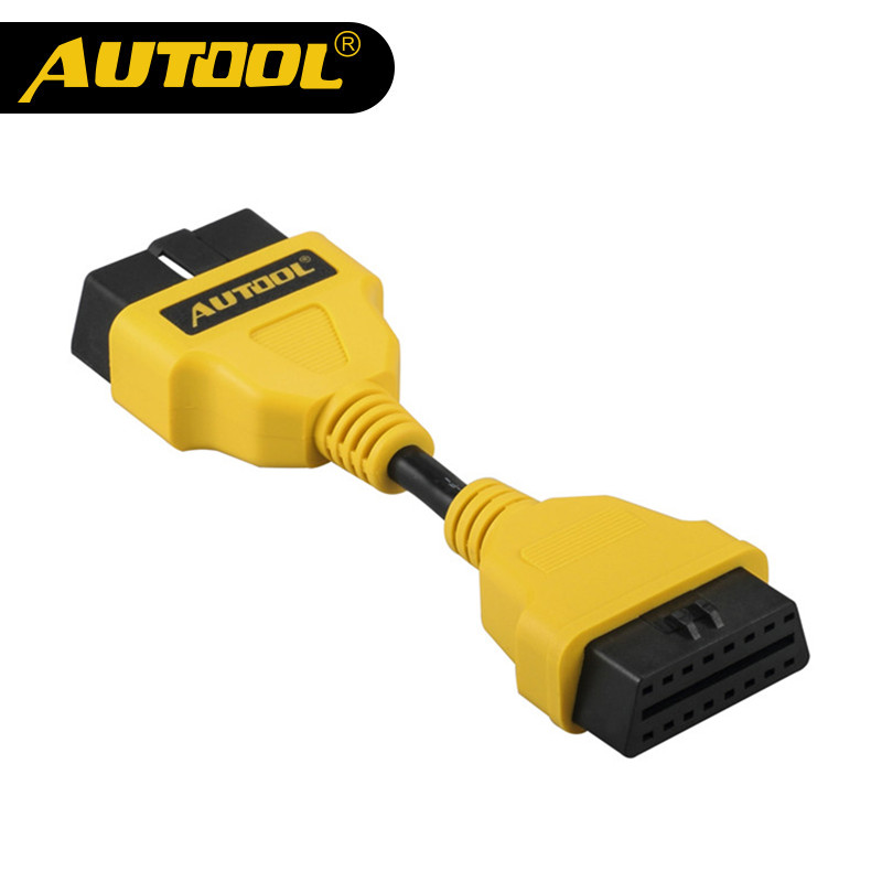 AUTOOL Car OBD 2 II Extension Cable Connector Auto OBD 16pin Adapter Extend Wire OBD2 Connect Cord For Launch X431 Airbag 14CM car truck obd main test cable adapter for gm tech2