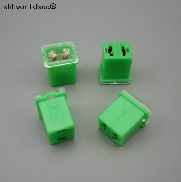 shhworldsea 50PCS 32V 40A green auto mini fuse link mini female type