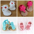 Summer Crochet Baby Girl shoes Crochet Baby Shoes,Gladiator Toddler shoes Pretty Heart-shaped buttons shaped,20pairs