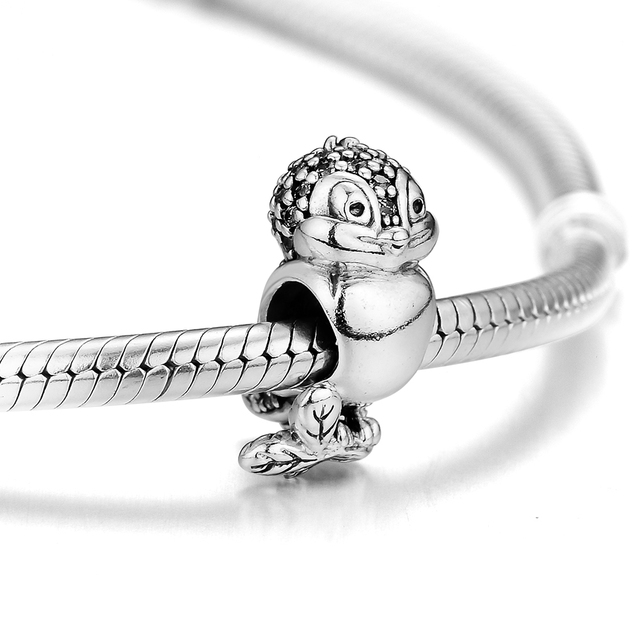 00a140740 Fits Pandora Bracelet Authentic 925 Sterling Silver Snow White's Bird Charm  Beads Making Jewelry