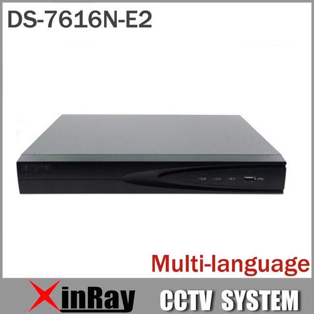 HIK DS-7604N-E1 DS-7608N-E2 DS-7616N-E2 NVR 4/8/16CH HD 5MP NVR para IP CCTV Suporte para Câmera ONVIF CCTV Sistema de segurança