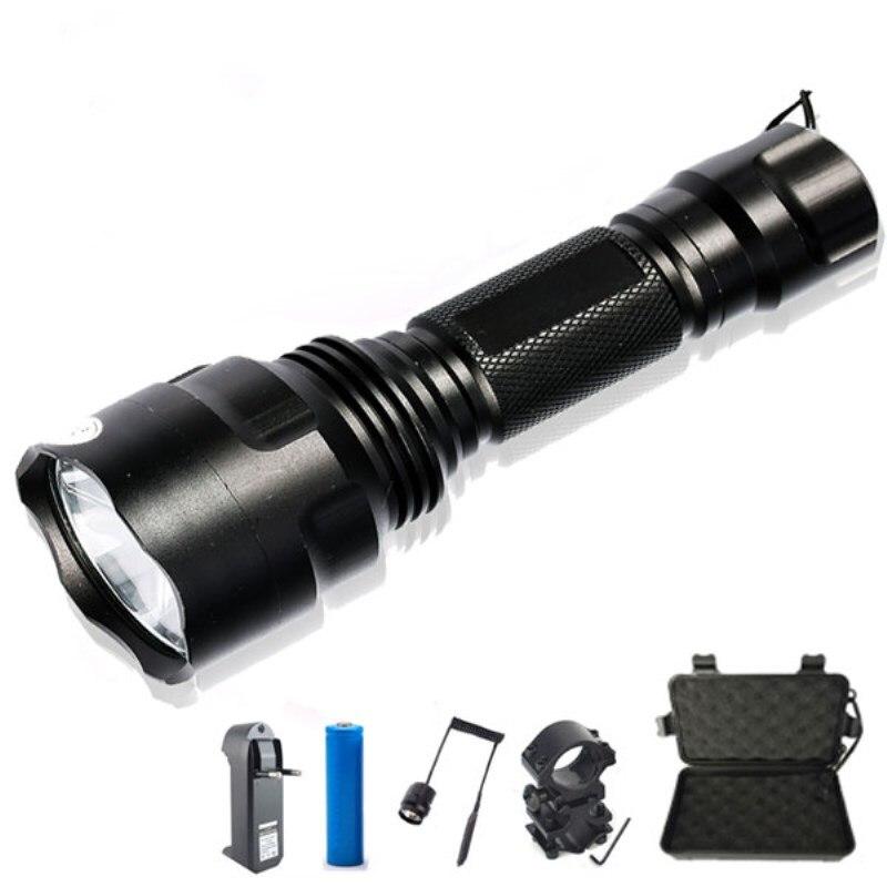 USB Rechargable 8000LM T6 LED Flashlight Pistol Light Tactical Hunting Torch