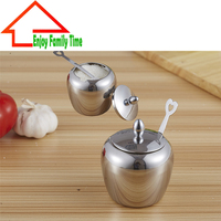 Free Shipping Stainless Steel Sugar Bowl Cooking Tools New Design Baharat Takimlari With Spoon Two Pieces