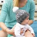 Romirus gorro bebe crianças chapéus de inverno para recém-nascidos chapéu bonito cap malha capotas enfant hairball beanie chapeu bebe