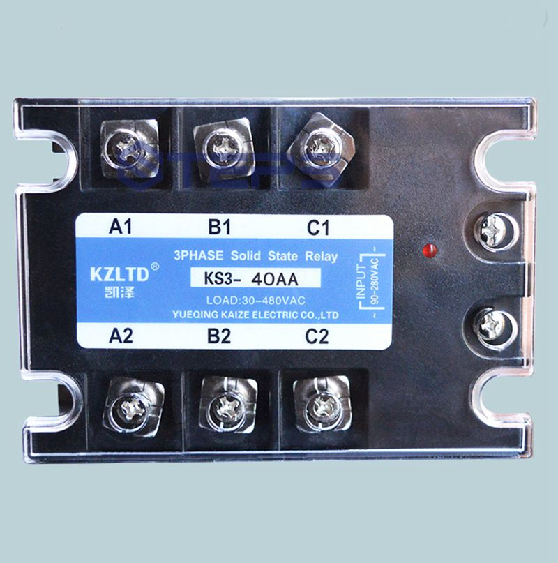 Three-phase solid state relay AC to AC 40A 220v solid state contactor sayoon dc 12v contactor czwt150a contactor with switching phase small volume large load capacity long service life