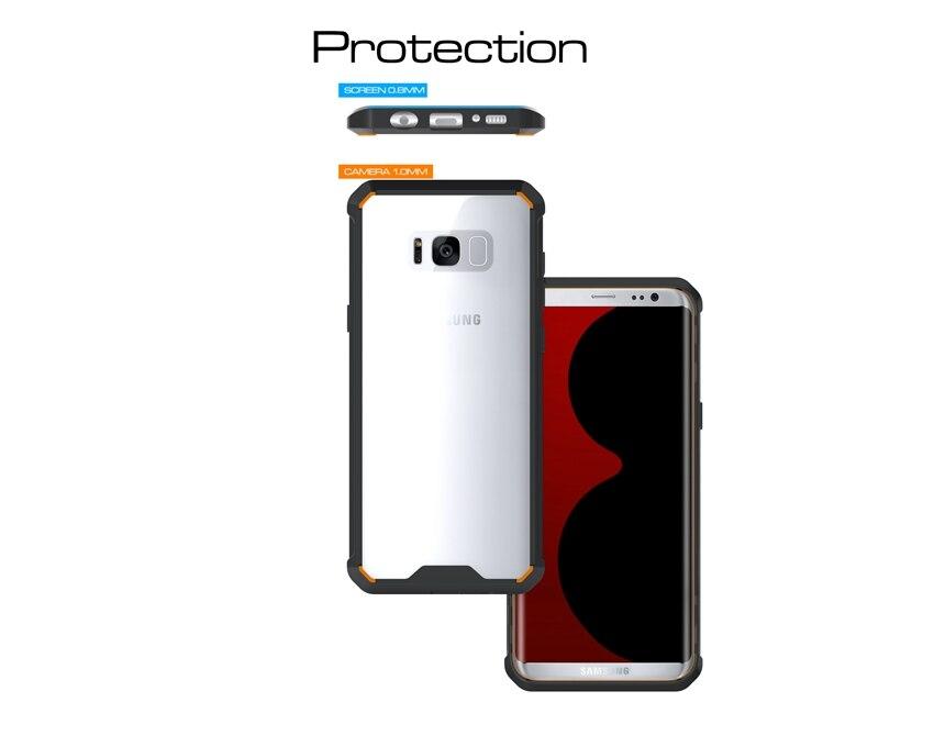 Հիբրիդային TPU Frame Clear Crystal Back Cover Armour - Բջջային հեռախոսի պարագաներ և պահեստամասեր - Լուսանկար 3