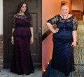Темно-синий кружева русалка мать невесты платья для Большой размер чистой баски half-рукава свадебные ну вечеринку платья макси платья женщин