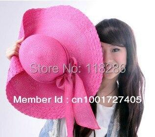 УФ большой краев леди шляпа солнца женщина солнце соломенная шляпа леди большой брим пляж hat мода летняя шляпа