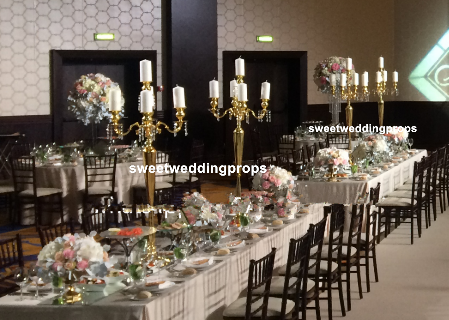 New Arrival Decoration Table Top Chandelier Centerpieces For