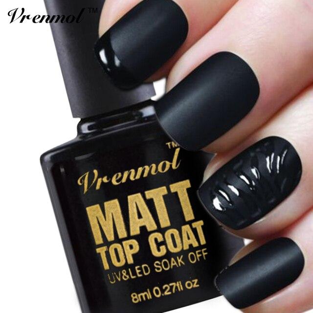 Vrenmol 1pcs Long Lasting Matt Effect Matt Top Coat Nail Art UV Gel ...