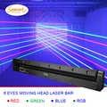 Envío Gratis 8 ojos RGB etapa efecto láser barra iluminación para dj disco cabeza móvil proyector wash spot dmx control luz