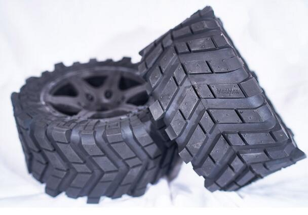 1/5 TRAXXAS X-MAXX Wheels Waterproof and wear-resistant Widened Tire RC Monster truck Rim 4pcs + wheel nuts Size 219MM*105MM 1 5 traxxas x maxx wheels tire rc monster truck model madmax high quality tyres upgrade rim 4pcs