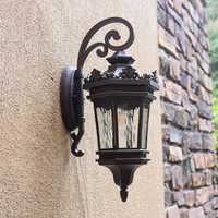 HAWBOIRRY large modern LED community villa home outdoor garden lamp European retro waterproof rust balcony balcony wall lamp