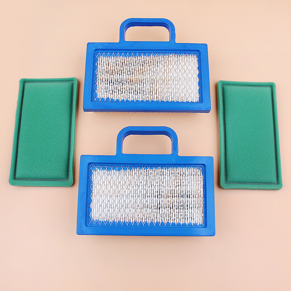 US $12 99 |2Pcs/lot Air Filter Combo Fit Briggs & Stratton 4202 499486  499486S Pre Filter 273638 18HP 26HP V Twin Engine Lawn Mower Parts-in Lawn