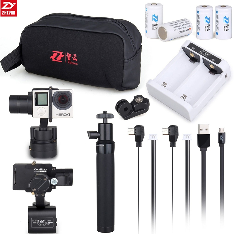 Original ZhiYun Z1 Rider M 3 Axis Brushless Handheld Gimbal Stabilizer For GoPro Hero 3 3+4 5 Sports Camera Photo Mounting Accs dji phantom 2 build in naza gps with zenmuse h3 3d 3 axis gimbal for gopro hero 3 camera