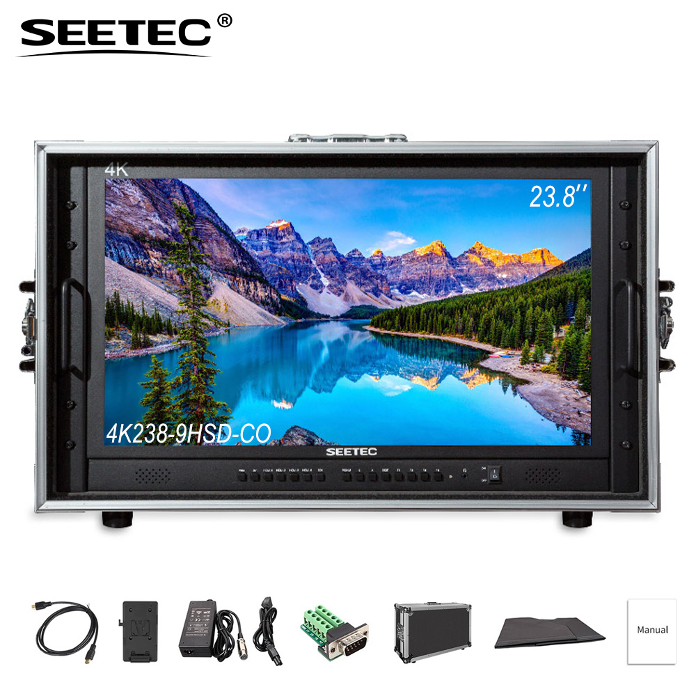 купить SEETEC 4K238-9HSD-CO Carry on Broadcast Director Monitor 23.8'' 4K Ultra HD 3840x2160 LCD IPS Screen with HDMI 3G SDI DVI VGA по цене 63781.66 рублей