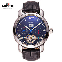 Brand Mstre Classic Fashion Business Watch Men Automatic Watch Leather Strap Tourbillion Clock Wristwatch Relogio Masculino