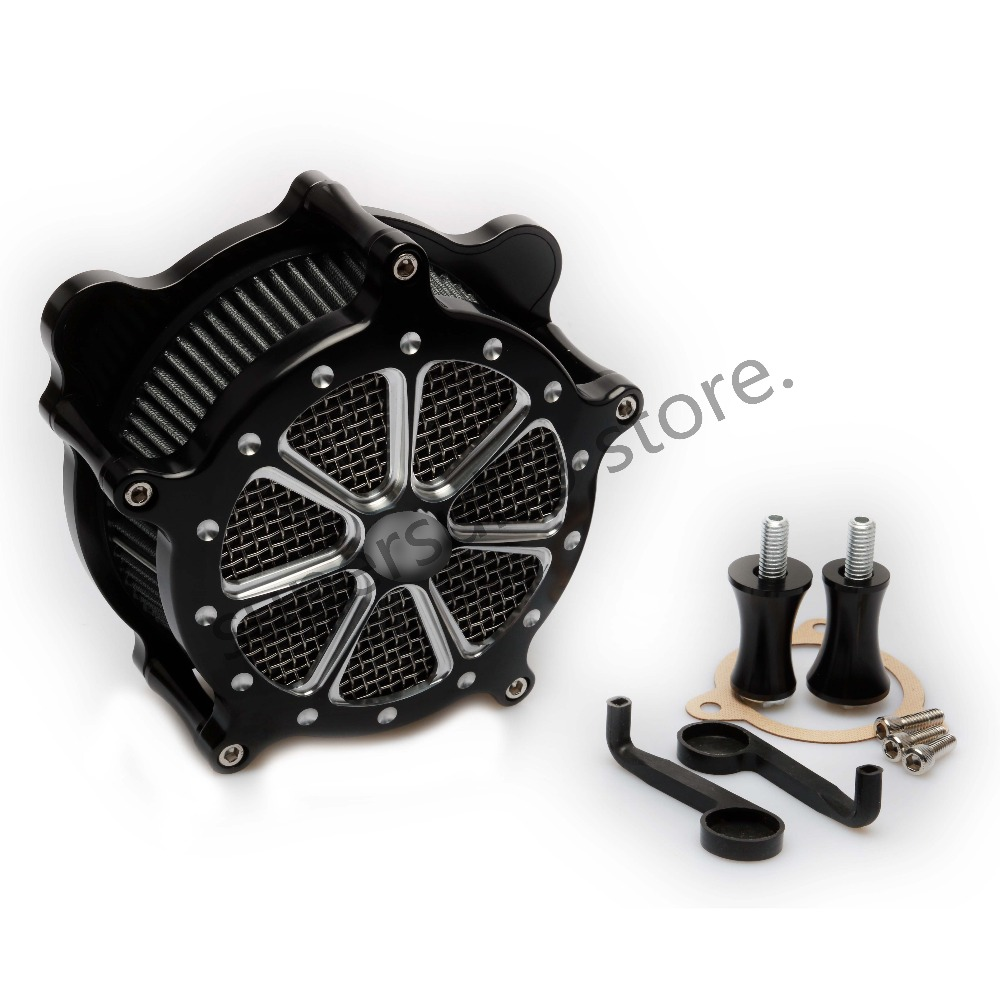 Motorcycle Air Cleaner Intake Filter System kits For Harley Road King Road Glide Electra Glide Ultra