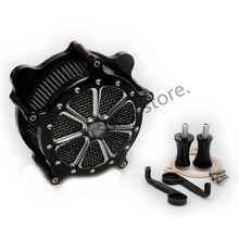Moto Air Intake Cleaner Filtre Système kits Pour Harley Road King Road Glide Electra Glide Ultra Classique FLHTCU 2008-2016