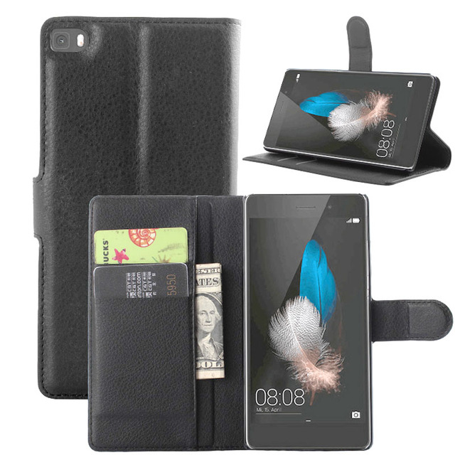 save off db897 cb1cc US $5.55 |Wallet Leather Cases for Huawei P8 lite Case ALE L21 Flip Cover  Magnetic with Stand Function + Credit Card Holder Litchi Line on ...