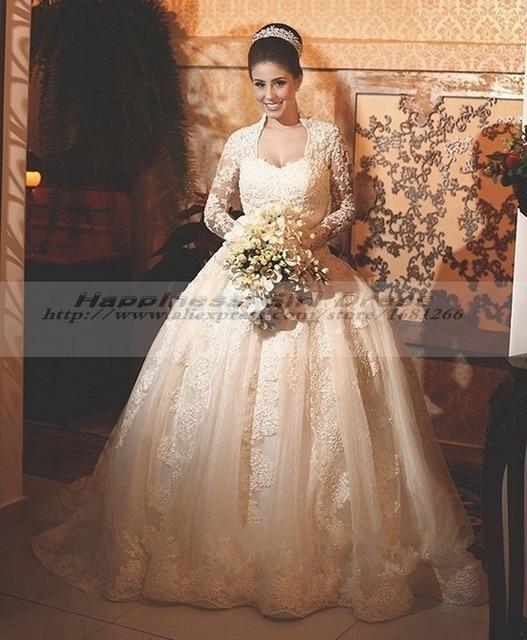 Vestidos De Novia 2015 Princesa Vintage Elegant Long Sleeve Pnina ...