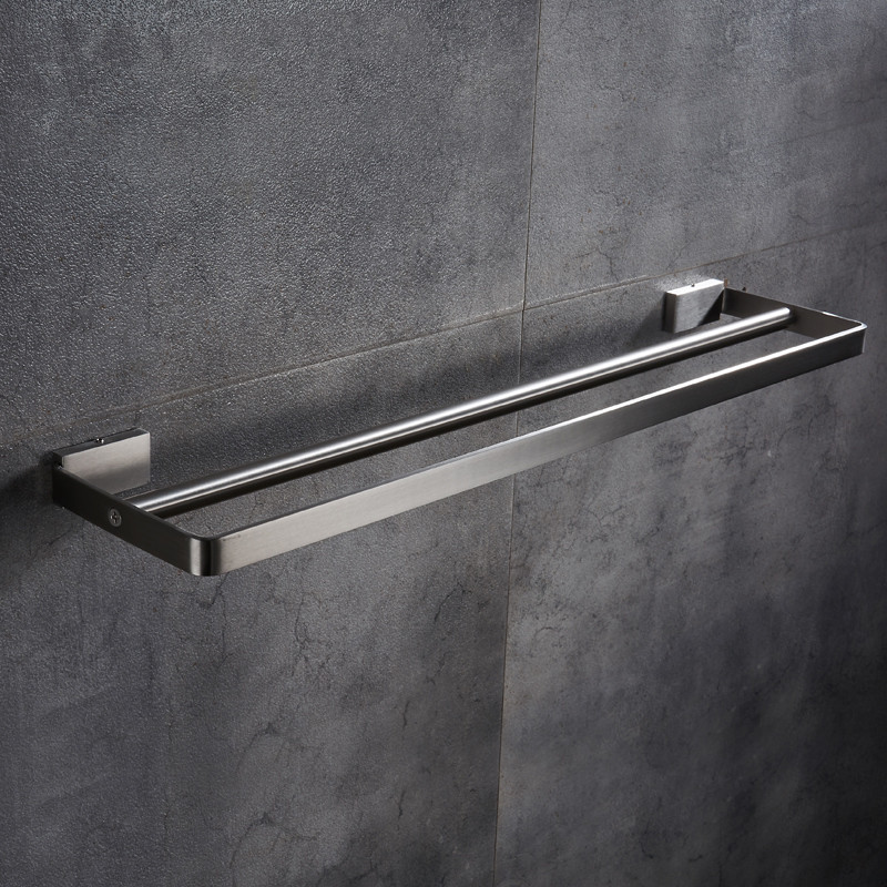 AUSWIND 304 stainless steel drawing towel bar bathroom towel double bar bathroom towel rack wall mount GR5 auswind antique 304 stainless steel square base black towel ring wall mount towel bar vintage bathroom hardware set