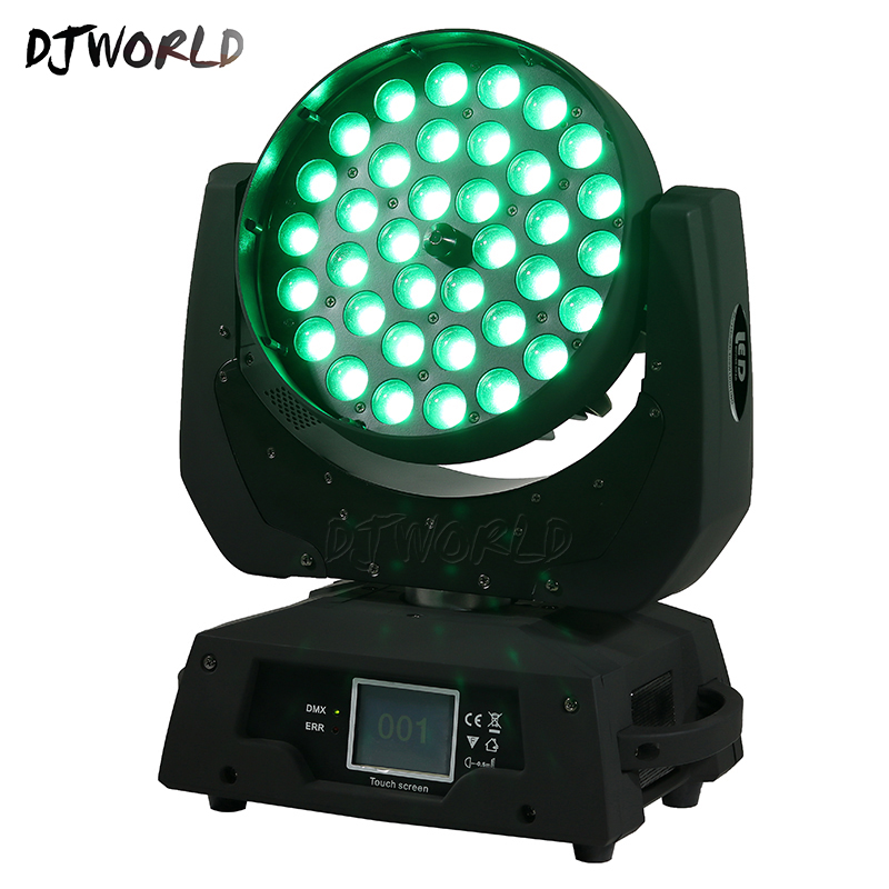 Hot-selling LED 36x18W Zoom LED RGBWA+UV Moving Head Zoom Wash DJ Light Render 6 Color In Hall Stage Disco Bar Night Club factory price 4pcs led moving head zoom wash light 36x10w rgbw 4 in1 stage night club disco bar uplighting fast