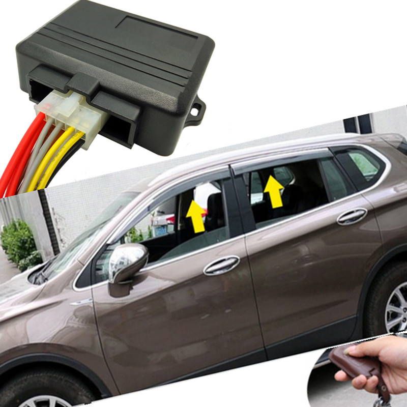 4 Doors Electric Power Window Closer Module Automatic Rolling Up System Compatible with Car Alarm for bmw audi chevrolet VW top quality rolling code pke car alarm system with passive keyless entry power window output automatically lock unlock car